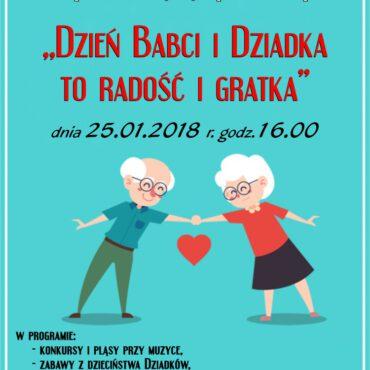 WDK w Raciążu zaprasza na imprezę z okazji Dnia Babci i Dziadka