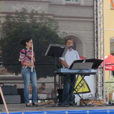 Marcin Kiedrowski wystąpił na tucholskim rynku
