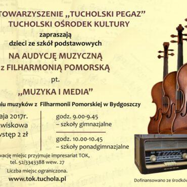 Zapraszamy na Audycję Muzyczną pt. `Muzyka i Media`