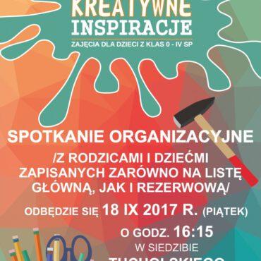 Spotkanie organizacyjne `Kreatywnych Inspiracji`