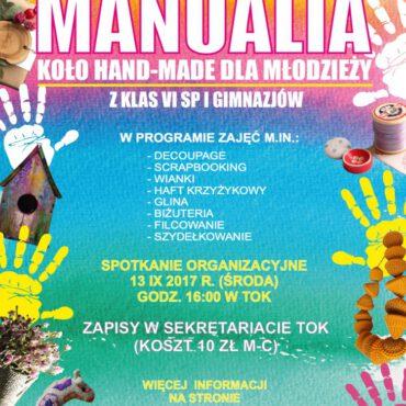 `Manualia` – nowe koło hand-made dla młodzieży rusza od września!