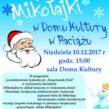 Bajkowe Mikołajki w Domu Kultury w Raciążu