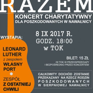 `Razem` – koncert charytatywny dla poszkodowanych w nawałnicy