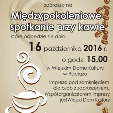 Międzypokoleniowe spotkanie przy kawie w Raciążu
