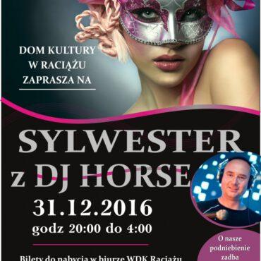 Sylwester w Raciążu – bilety sprzedane!