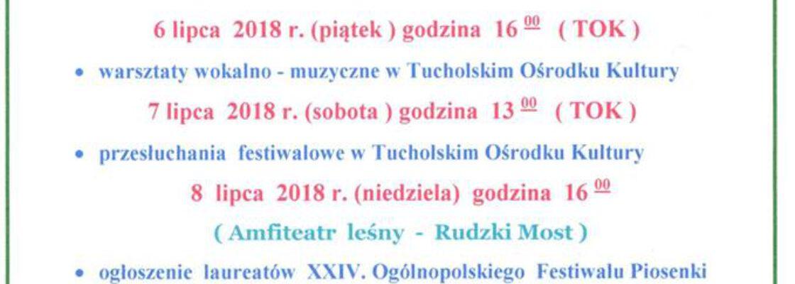 """24. Ogólnopolski Festiwal Piosenki Religijnej """"Bory Tucholskie 2018"""""""