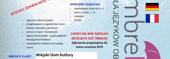 Kursy języków obcych w WDK Raciąż