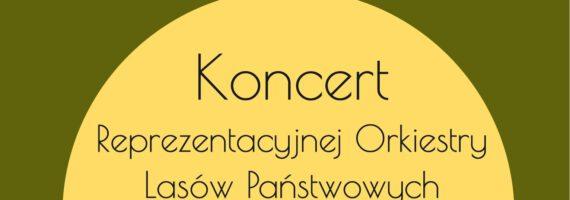 Koncert Reprezentacyjnej Orkiestry Lasów Państwowych na rynku