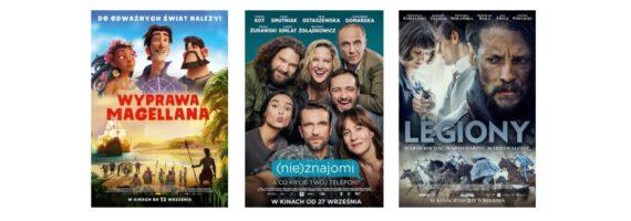 Kino: Wyprawa Magellana; Legiony; (Nie)znajomi