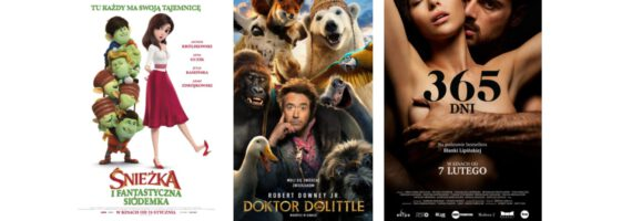 "Kino: ""Śnieżka i Fantastyczna Siódemka"", ""Doktor Dolittle"" i ""365 dni"""