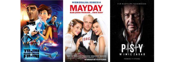 """Kino: """"Tajni i Fajni"""", """"Mayday"""", """"Psy 3. W imię zasad"""""""