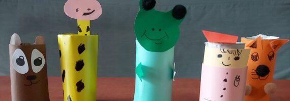 Kreatywne Inspiracje on-line: Postaci z papierowych rolek