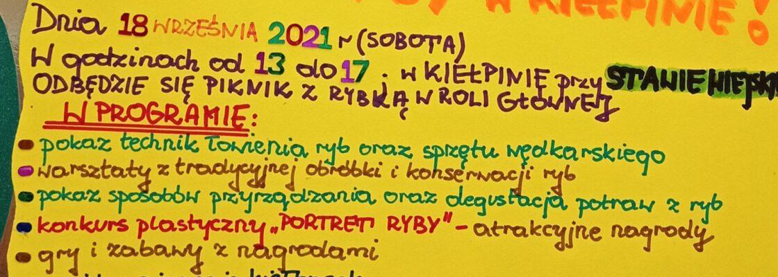 """""""Łowimy kulturę"""" – czyli Dzień Ryby w Kiełpinie"""